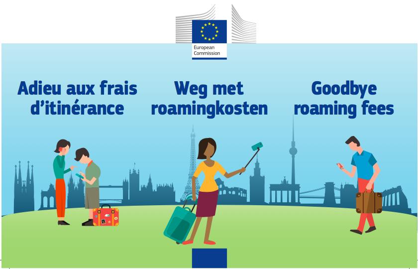 Fin des frais d'itinérance mobile pour les vacances en europe